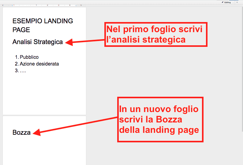 Come creare un landing page