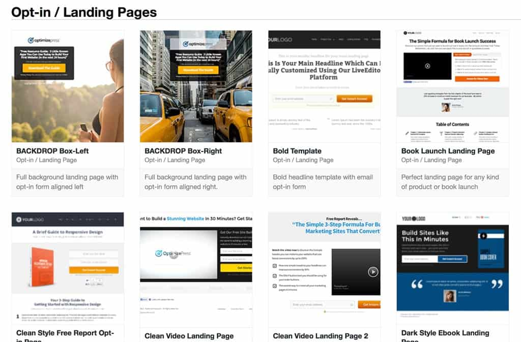 optin page optimizepress