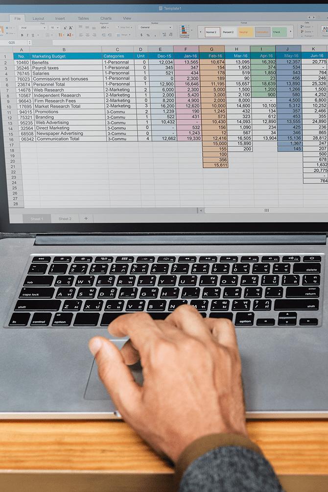 foglio Excel da 2.000