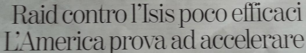 esempio titolo giornale