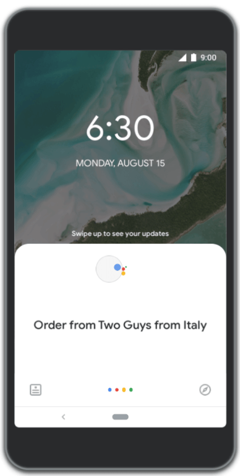 Google Assistant ordine cibo domicilio