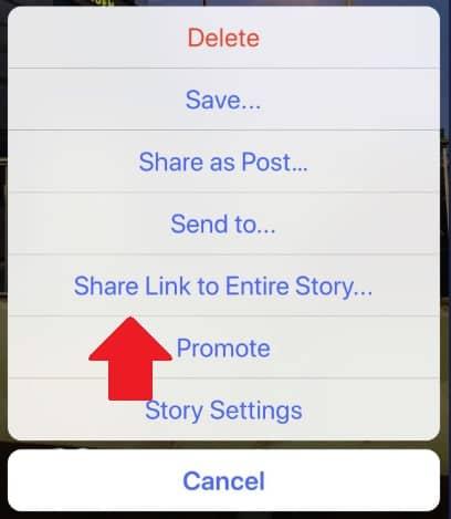 Condivisione instagram stories test gennaio
