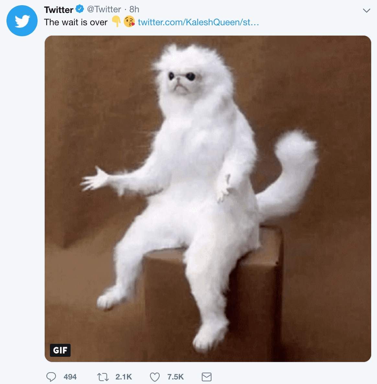 Retweet con GIF