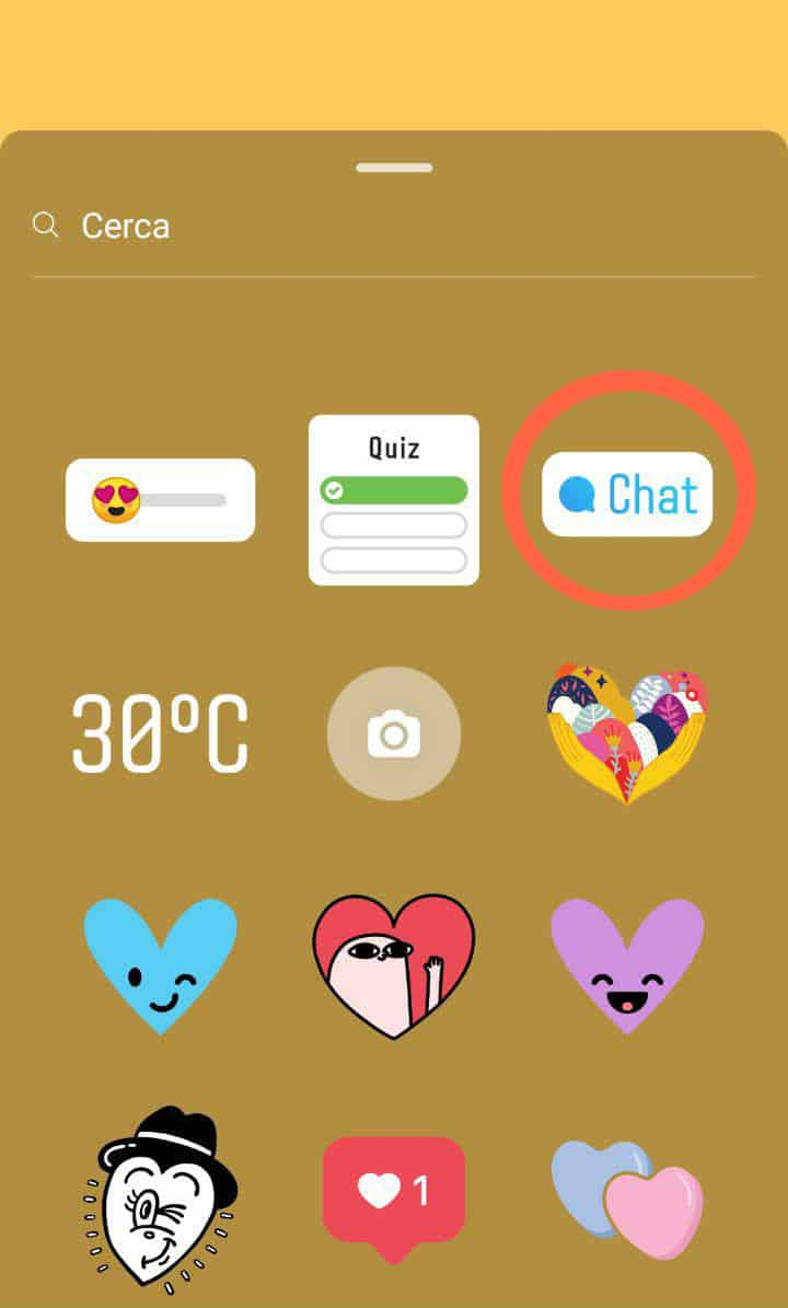 Instagram sticker chat 1