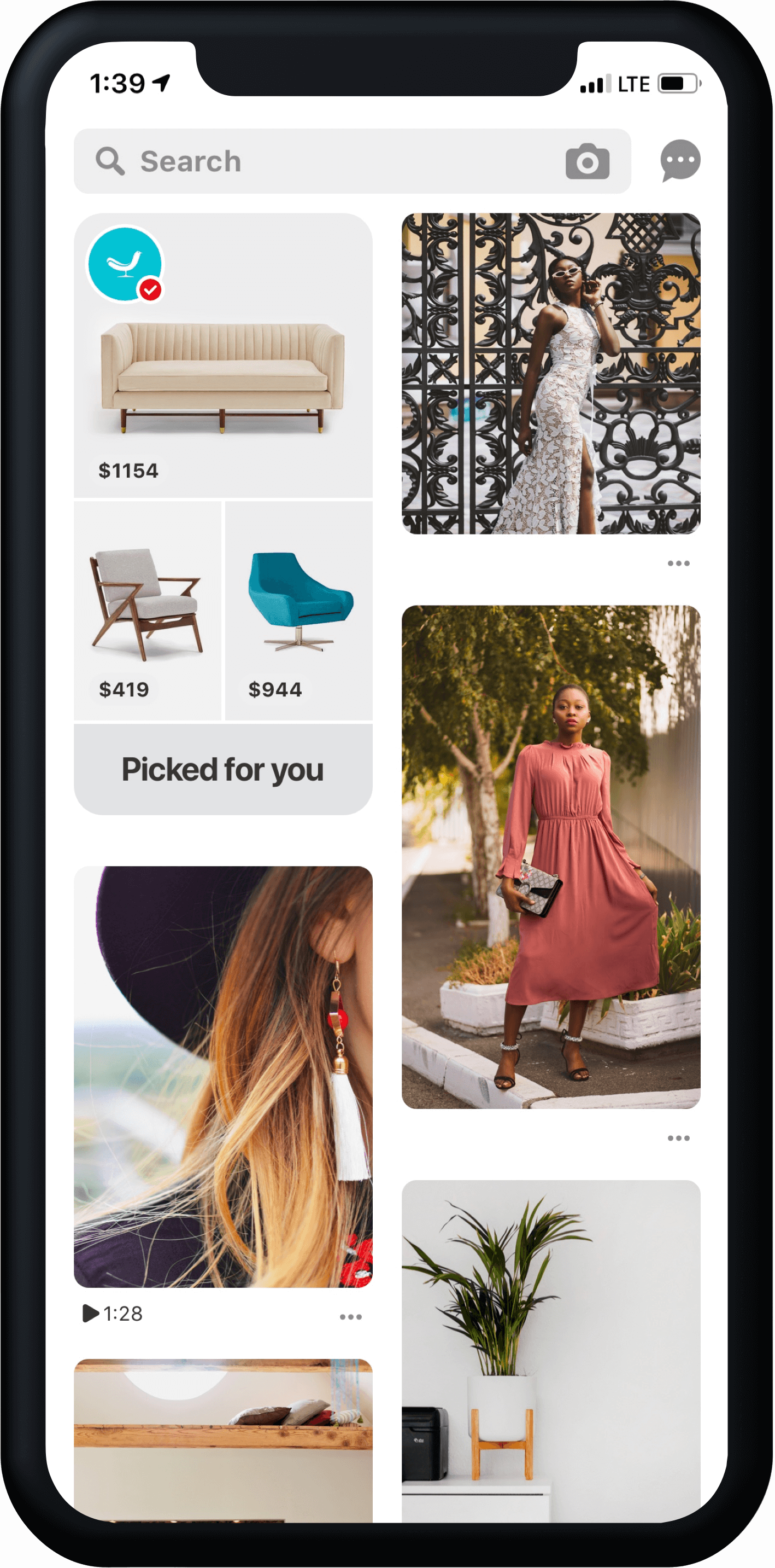Pinterest Home feed Hub Shopping