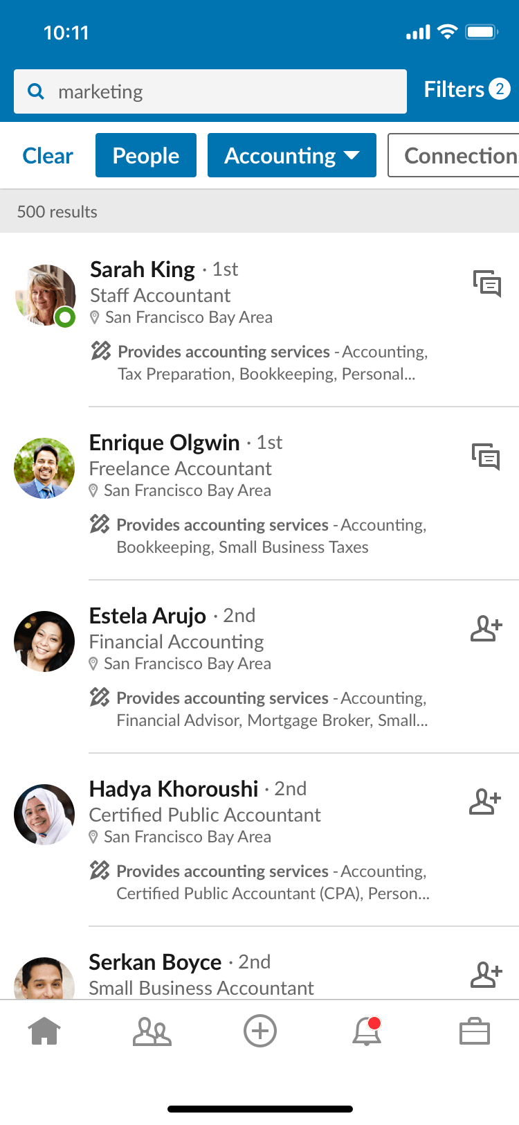 Linkedin ricerca servizi