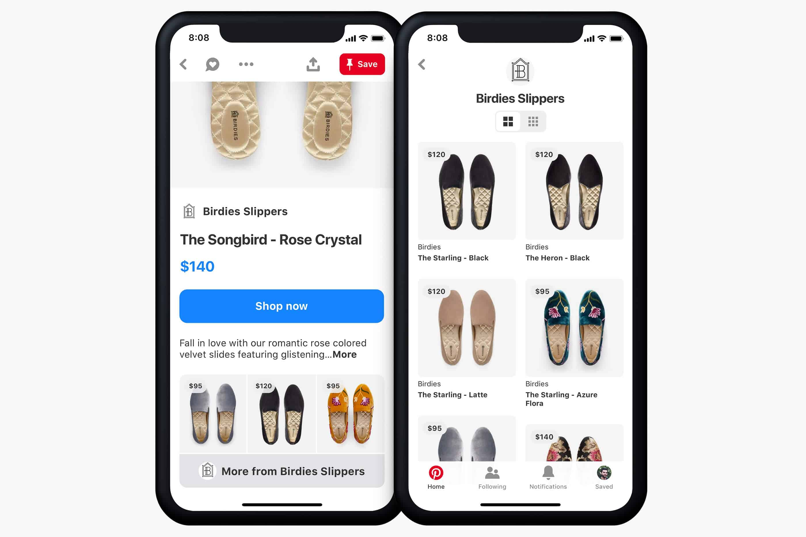 Pinterest hub catalogo shopping