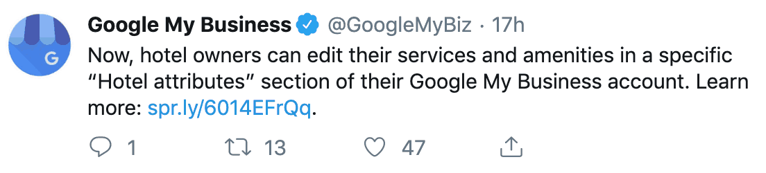 Google My Business hotel