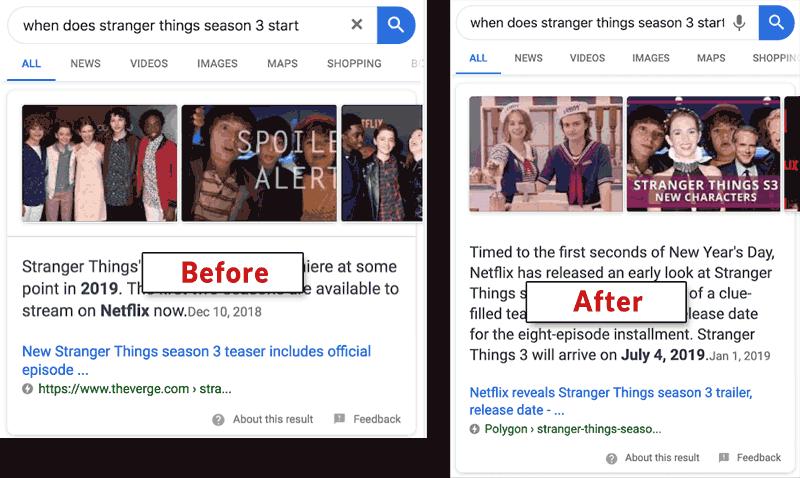 Google snippet aggiornamenti eventi