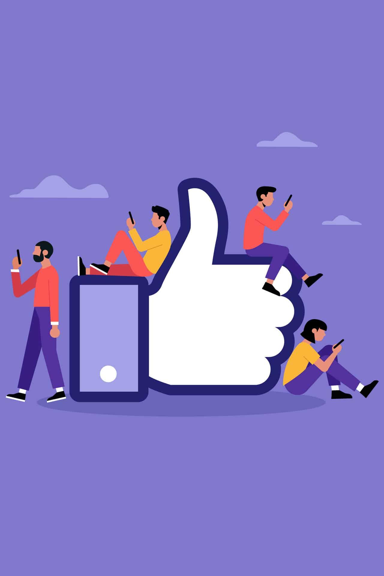 facebook numero like post