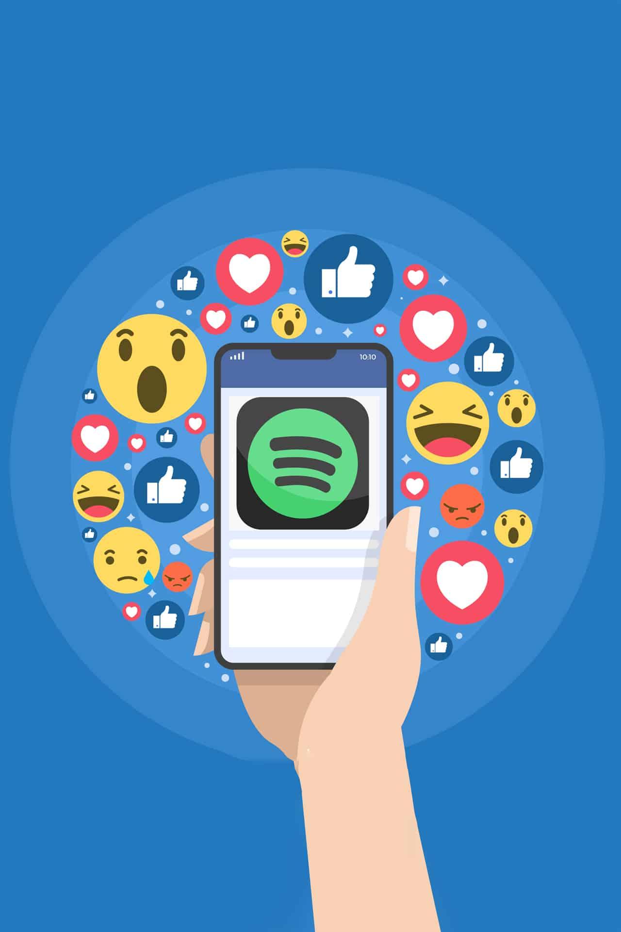 facebook spotify storie