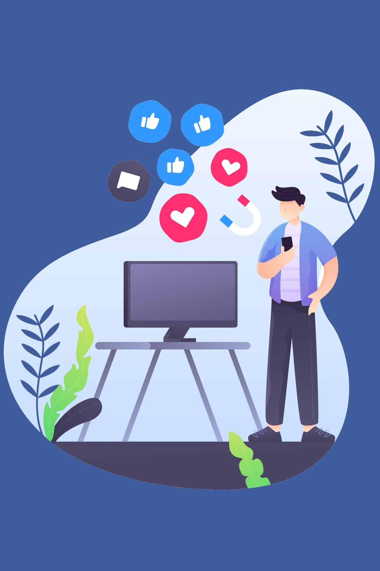 report facebook giovani