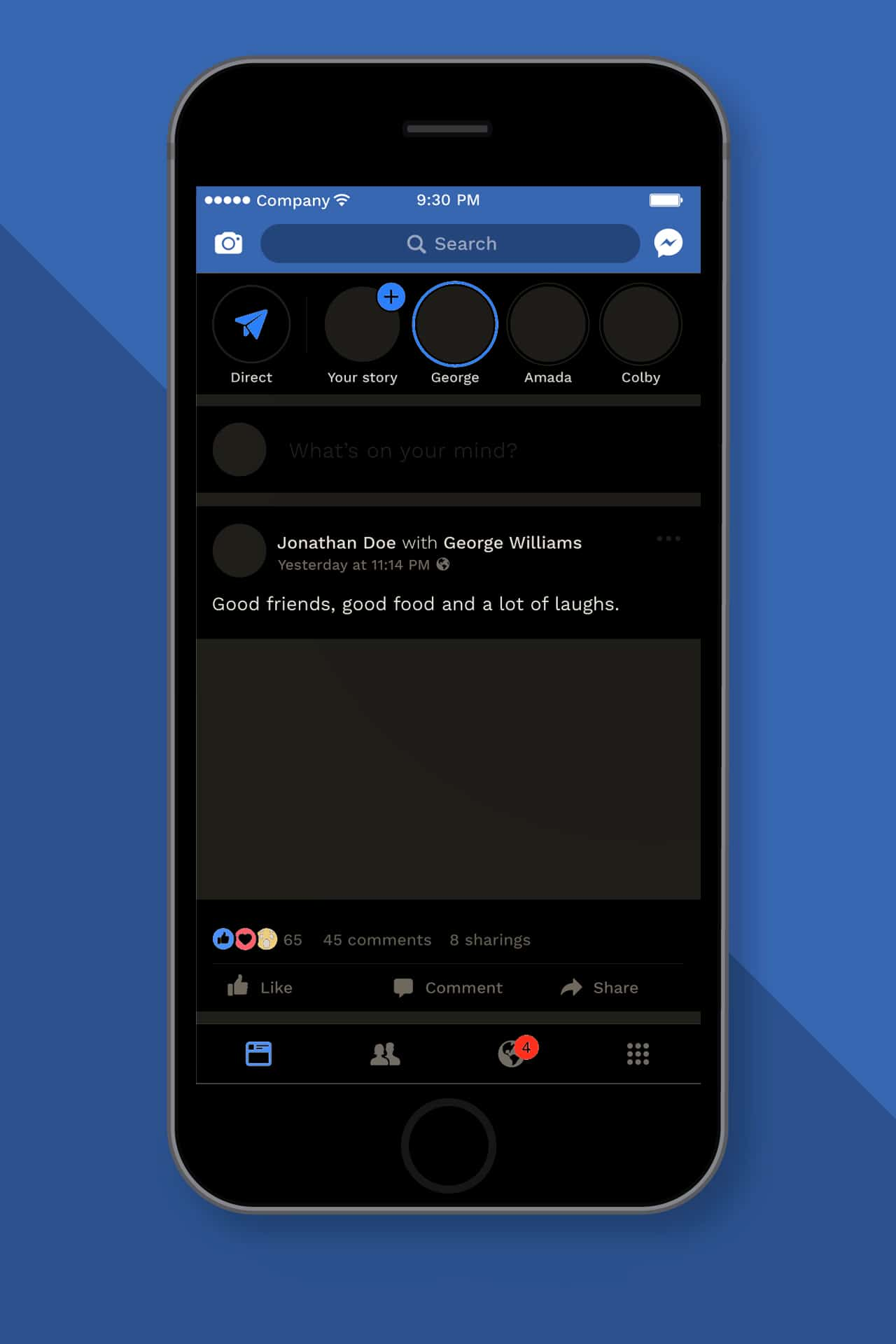 dark mode facebook