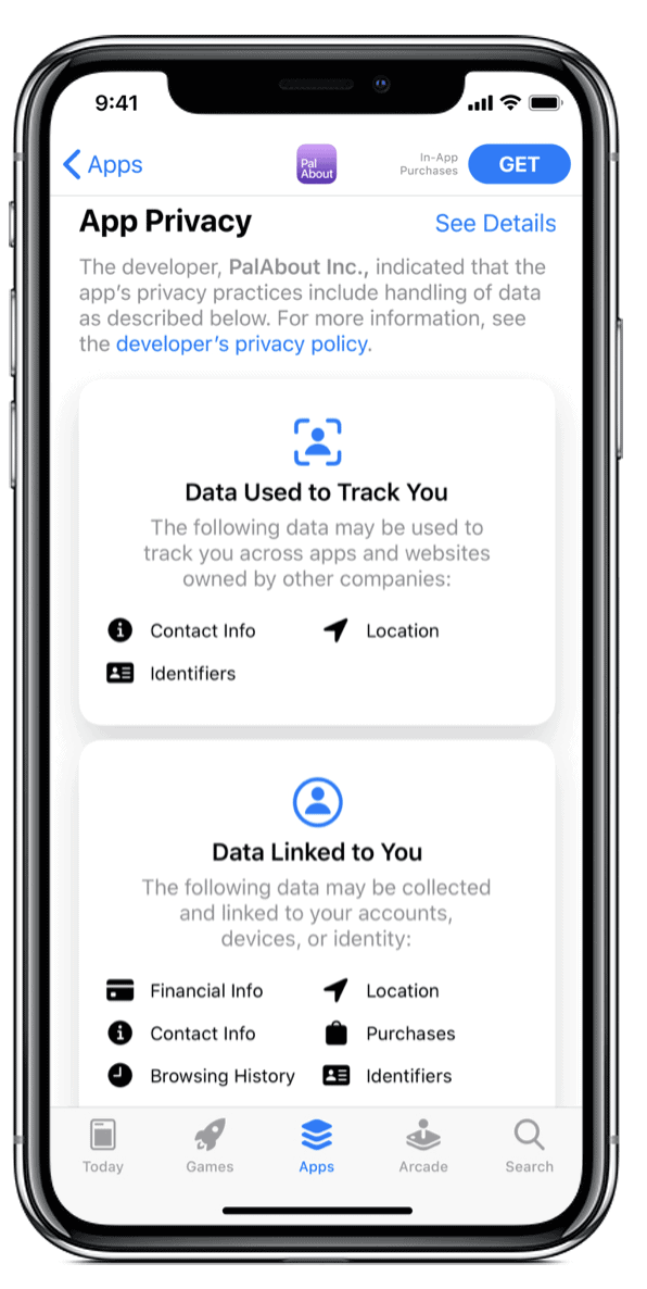 app privacy iOS14